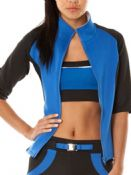 Women's Goddiva Colour Block Track Top (J1828B Blue) x4 (Option 2): £3.95